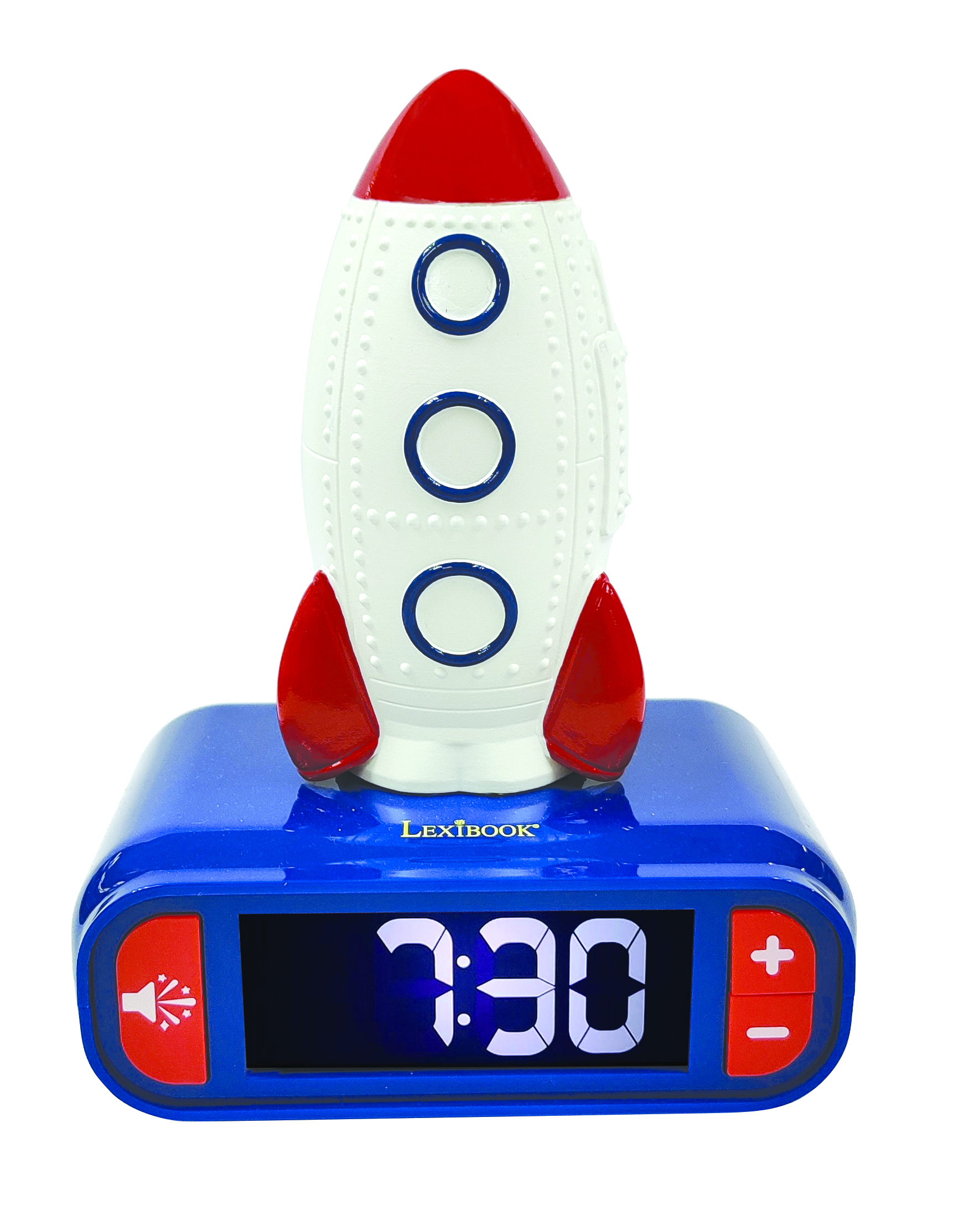 Lexibook - Alarm Clock with Rocket 3D design Night Light and sound effects (RL800SPC)