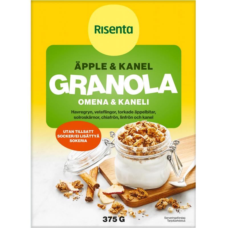Granola Omena & Kaneli 375 g - 45% alennus