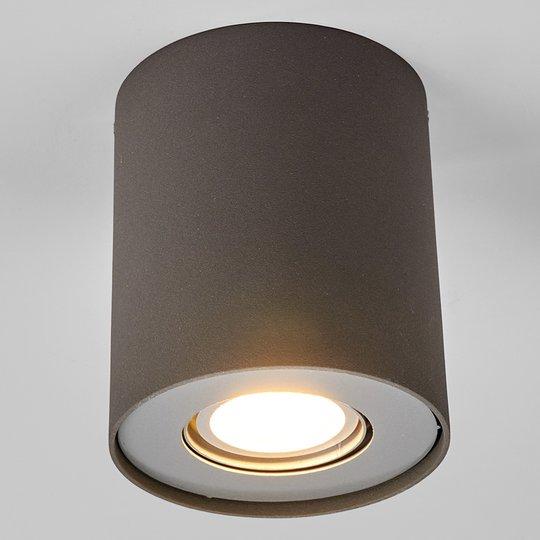 LED-alasvalo Giliano 1-lampp. pyöreä, grafiitti