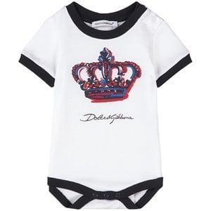 Dolce & Gabbana Crown Branded Baby Body Vit 0-3 mån