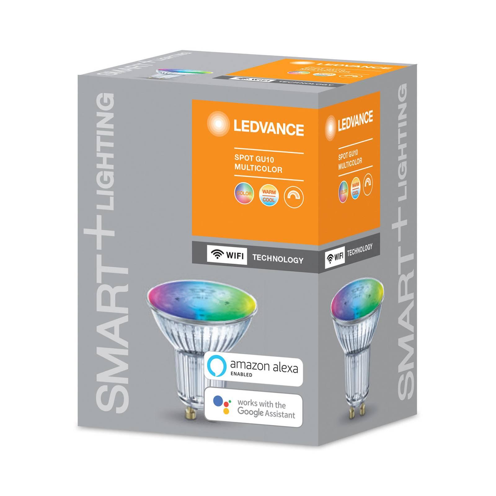 LEDVANCE SMART+ WiFi GU10-heijastin 5W 45° RGBW