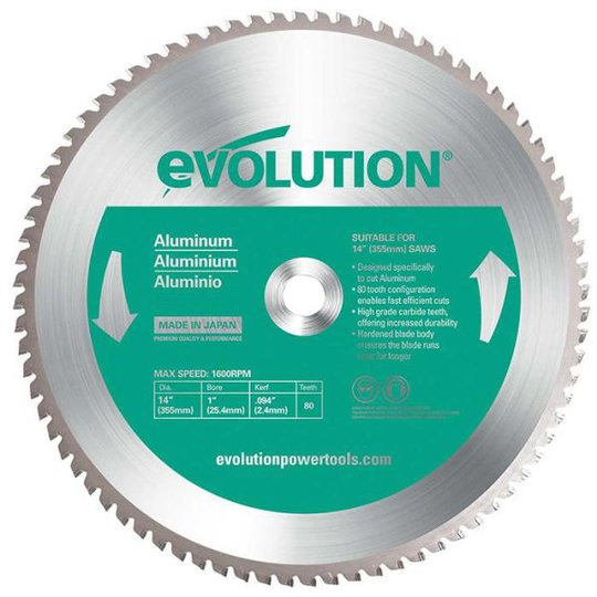 Evolution EV355A Sahanterä 355x2,0x25,4mm, 80T
