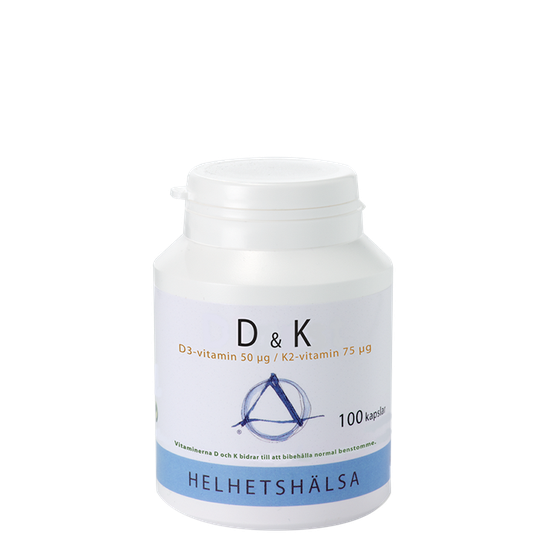 D & K vitamin, 100 kapslar