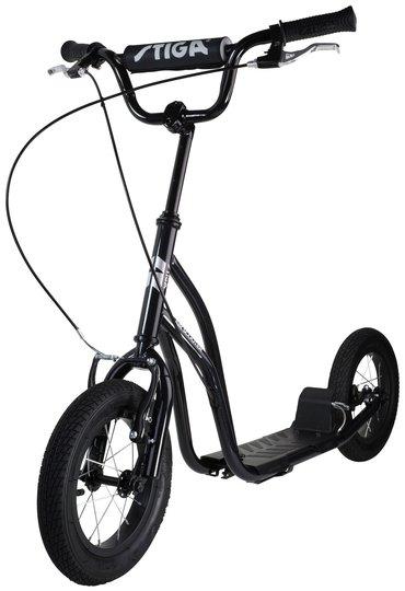 STIGA Air Scooter Sparkesykkel 12 tommer, Svart