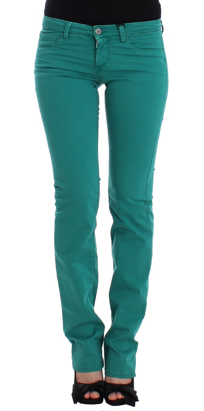 Costume National Women's Straight Leg Jeans Green SIG12463 - W26