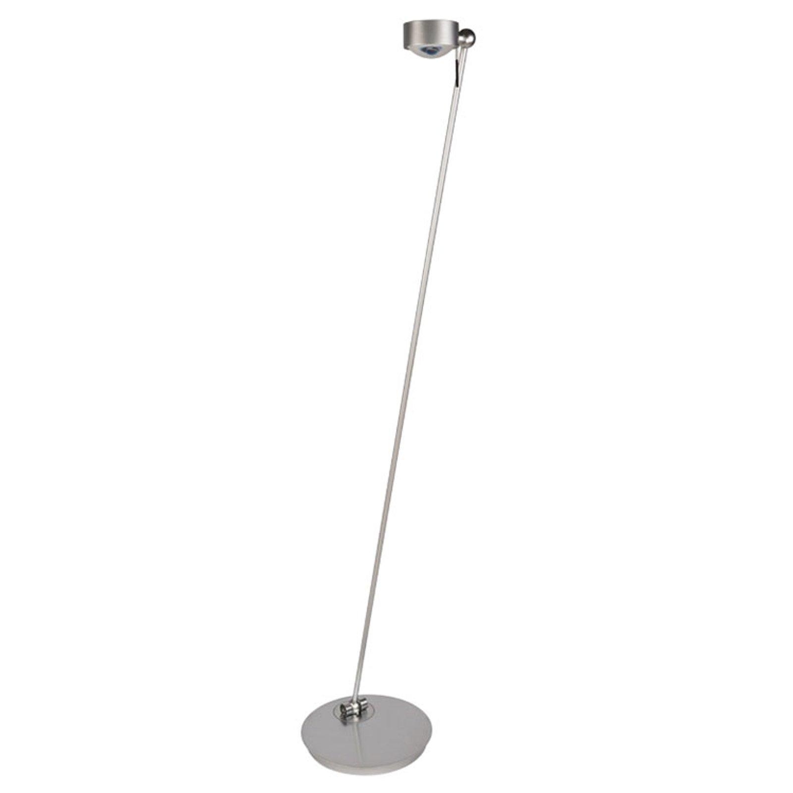 LED-gulvlampe Puk Floor Mini Single, nikkel matt