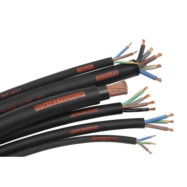 Nexans Titanex Liitäntäkaapeli H07RN-F, 450/750 V 3G1 mm²