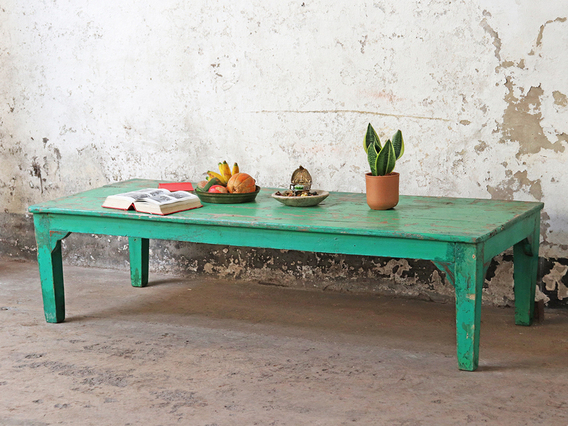 Vintage Coffee Table Green