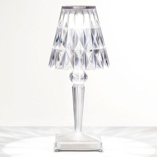 LED-koristepöytälamppu Battery, IP54, läpinäkyvä