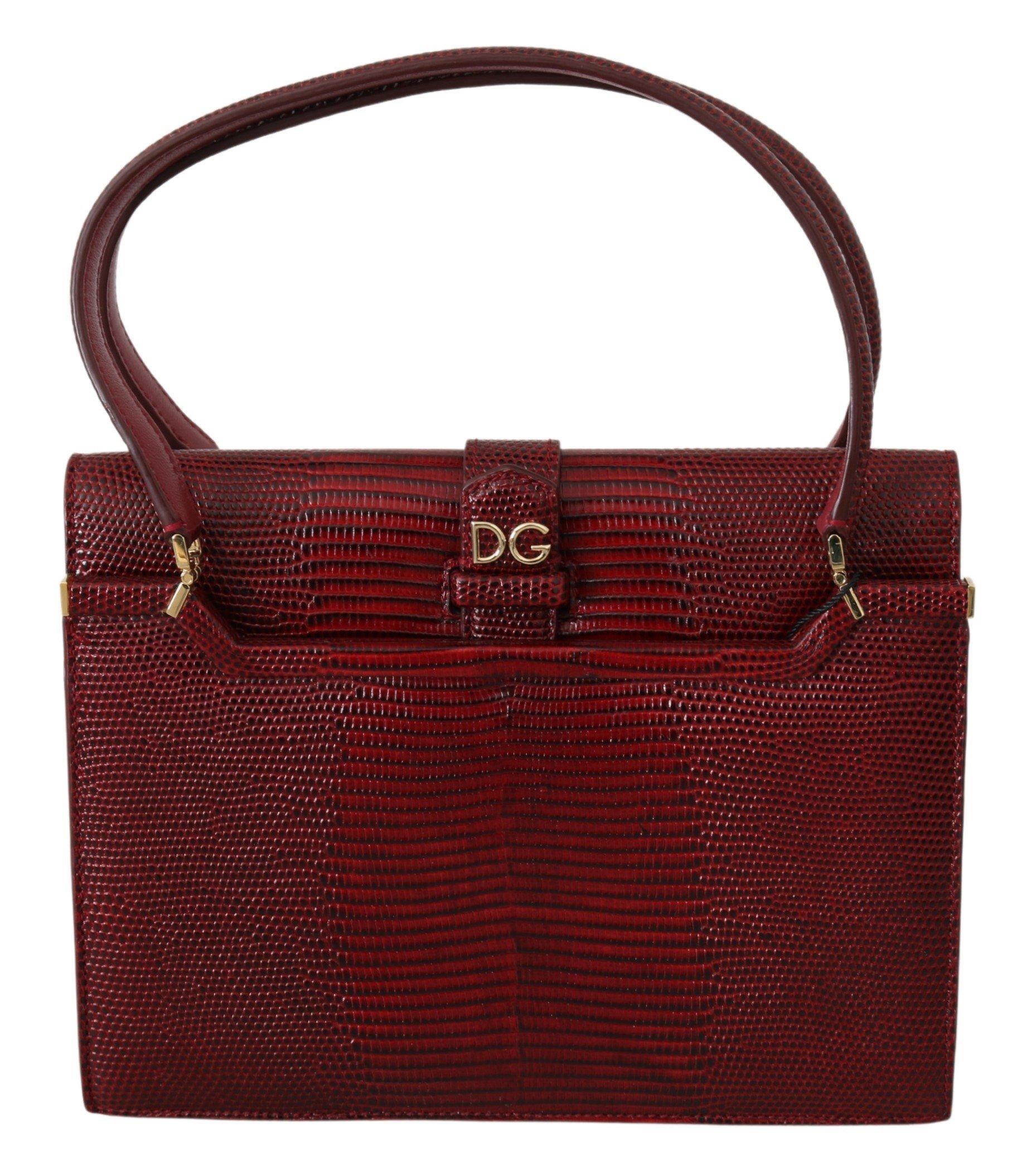 Dolce & Gabbana Women's DG Logo INGRID Handbag Bordeaux VAS9812