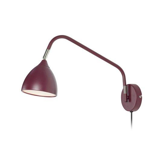 Vegglampe Valencia, burgunder