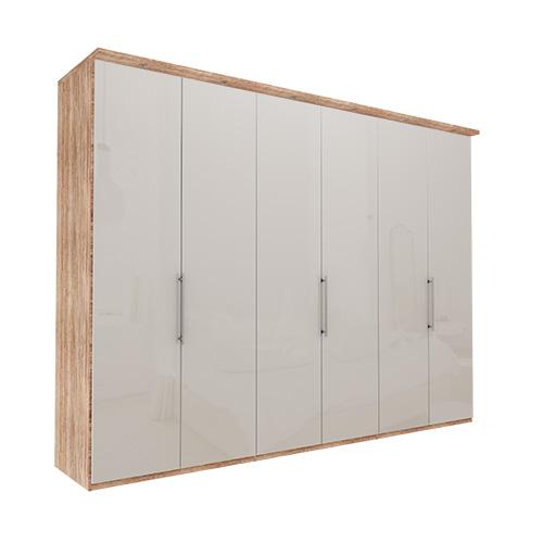 Garderobe Atlanta - Lys rustikk eik 300 cm, 216 cm, Med gesims