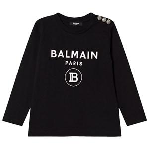 Balmain Logo Print Skjorta Svart 6 years