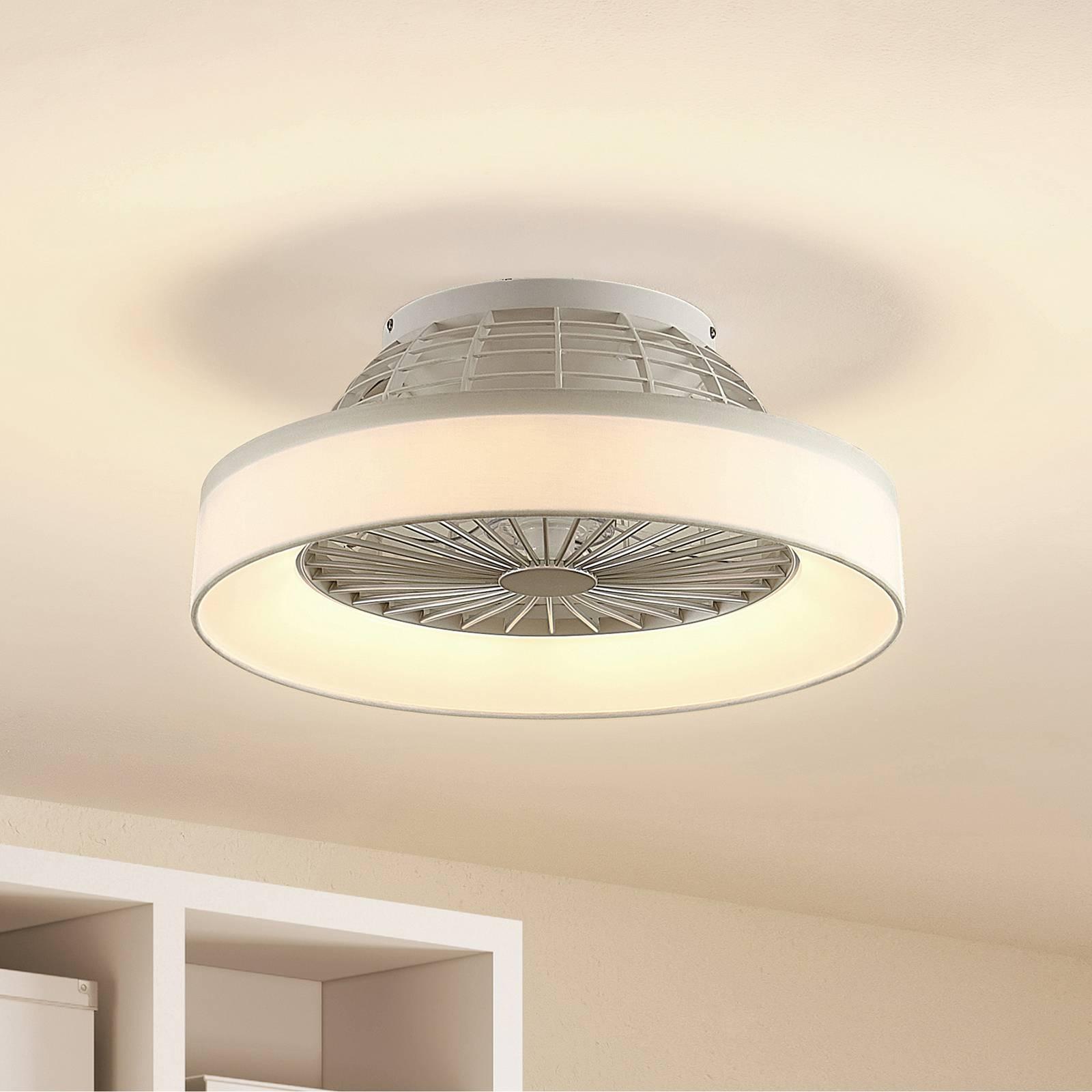 Lindby Circuma -LED-kattotuuletin, valkoinen