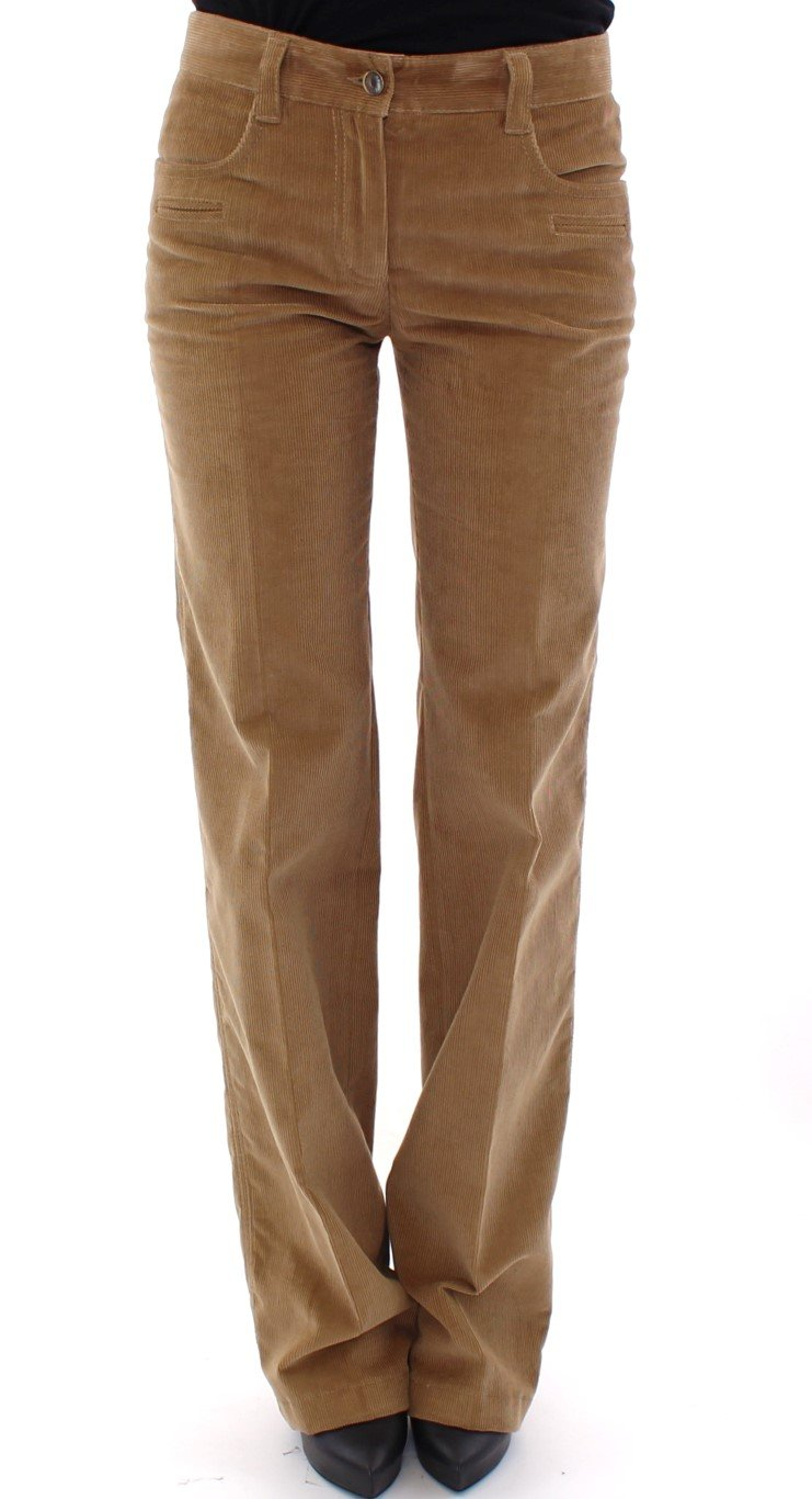Dolce & Gabbana Women's Cotton Corduroys Trouser Brown GSS13774 - IT40|S