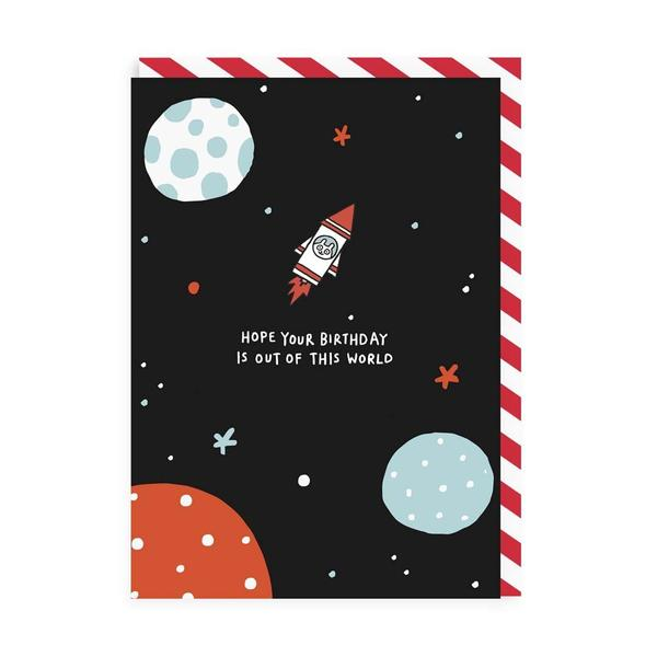 Out Of This World Birthday Enamel Pin Card