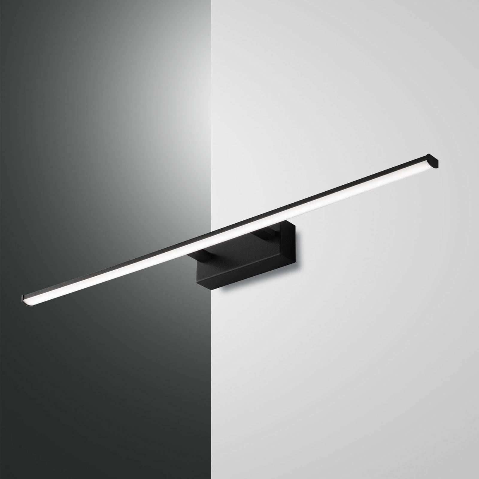 LED-seinävalaisin Nala, musta, leveys 75 cm