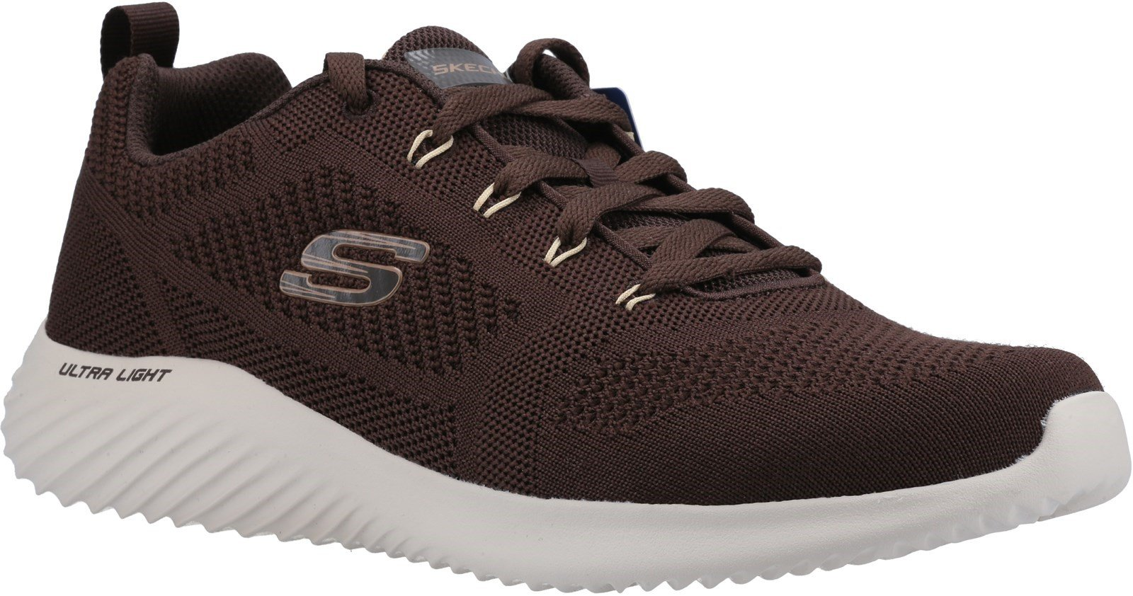 Skechers Men's Bounder Rinstet Lace Up Trainer Various Colours 31082 - Brown/Tan 6
