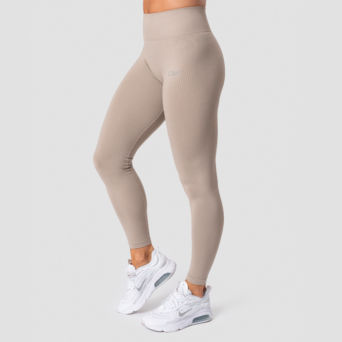 Ribbed Define Seamless Tights, Sand