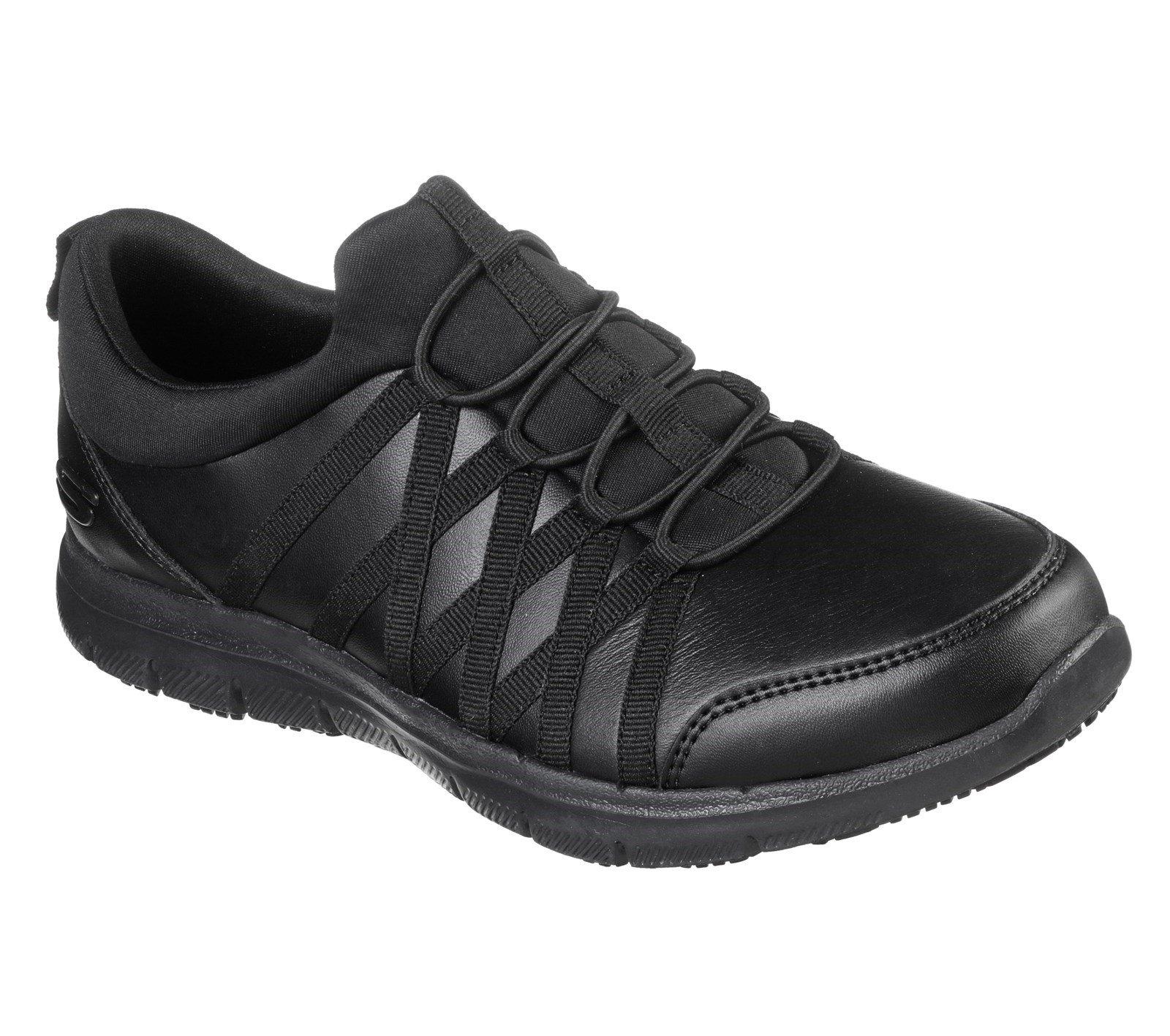 Skechers Women's Ghenter Dagsby Safety Trainer Black 32306 - Black 3