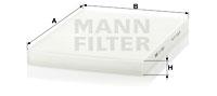 Raitisilmasuodatin MANN-FILTER CU 2882