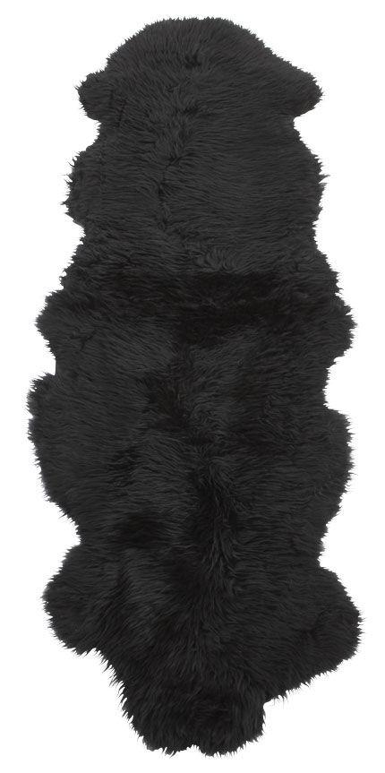 Dobbelt langhåret saueskinn - 10299 svart