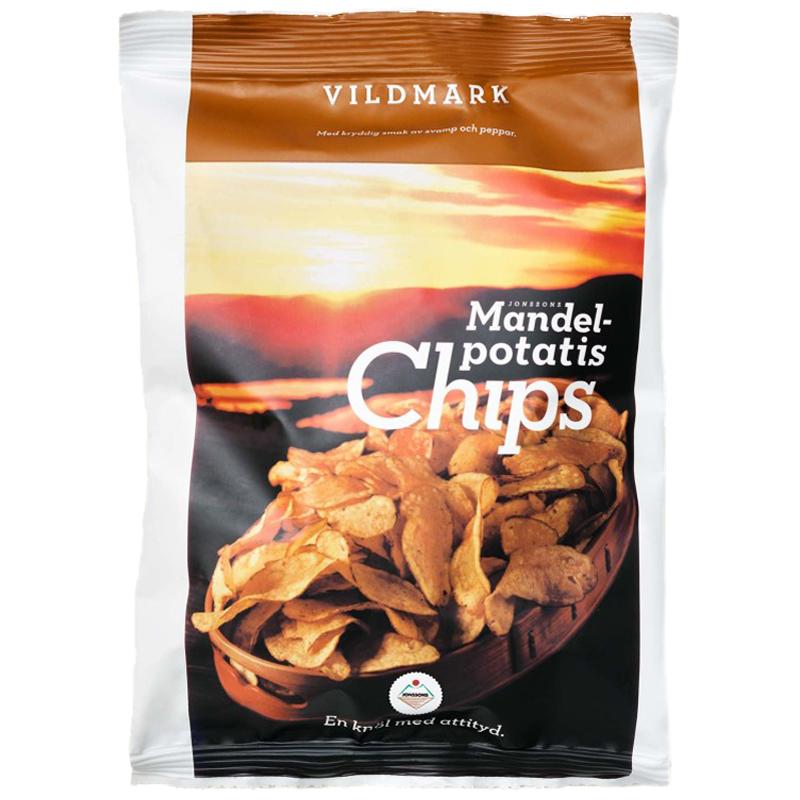 Chips Mandelpotatis Svamp & Svartpeppar - 40% rabatt