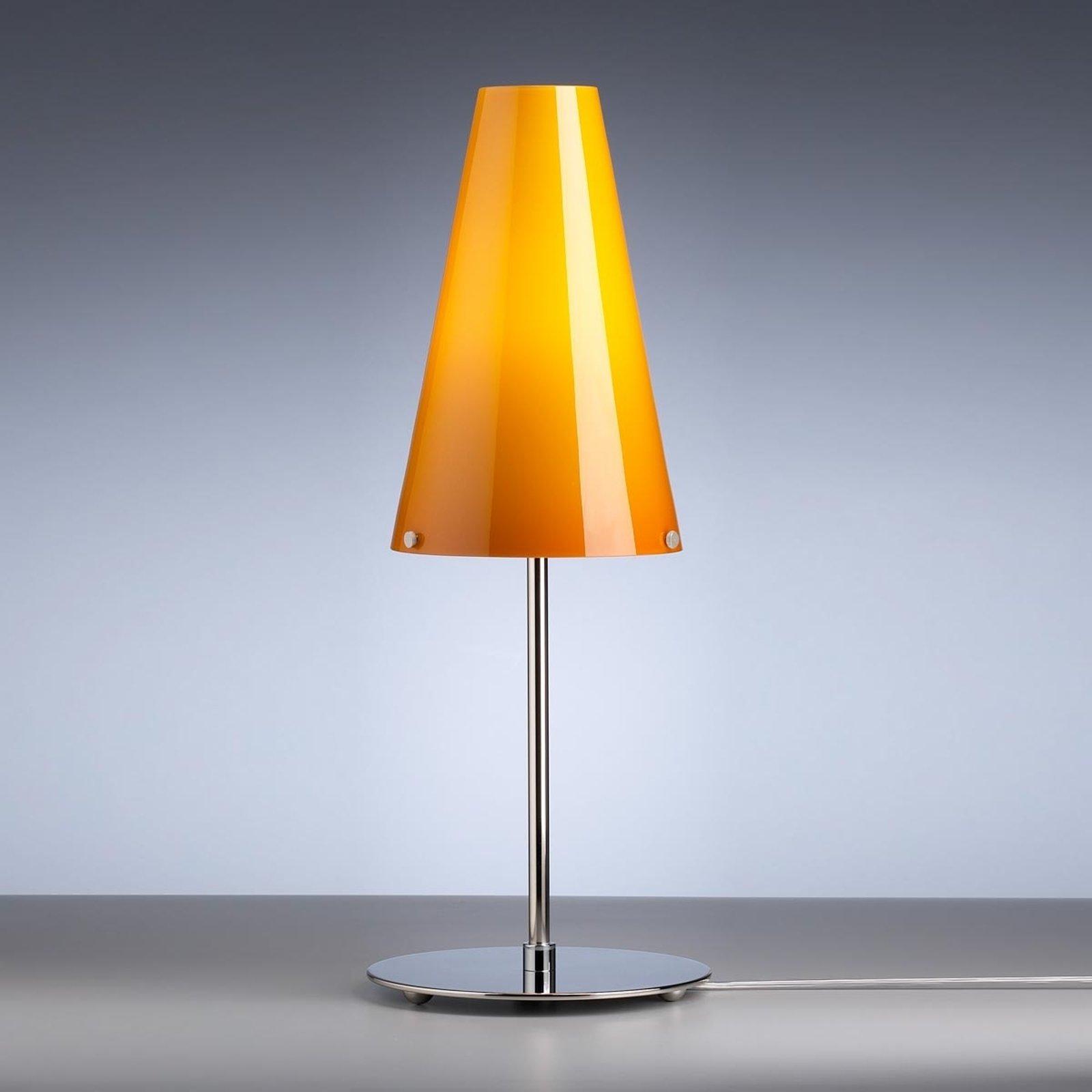 Bordlampe av Walter Schnepel melonfarget