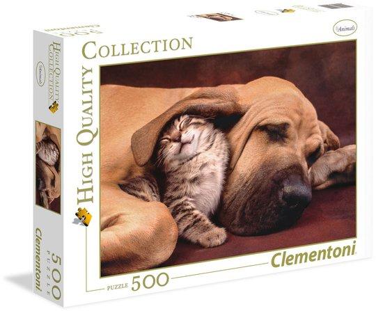 Clementoni Puslespill Katt Og Hund 500 Brikker