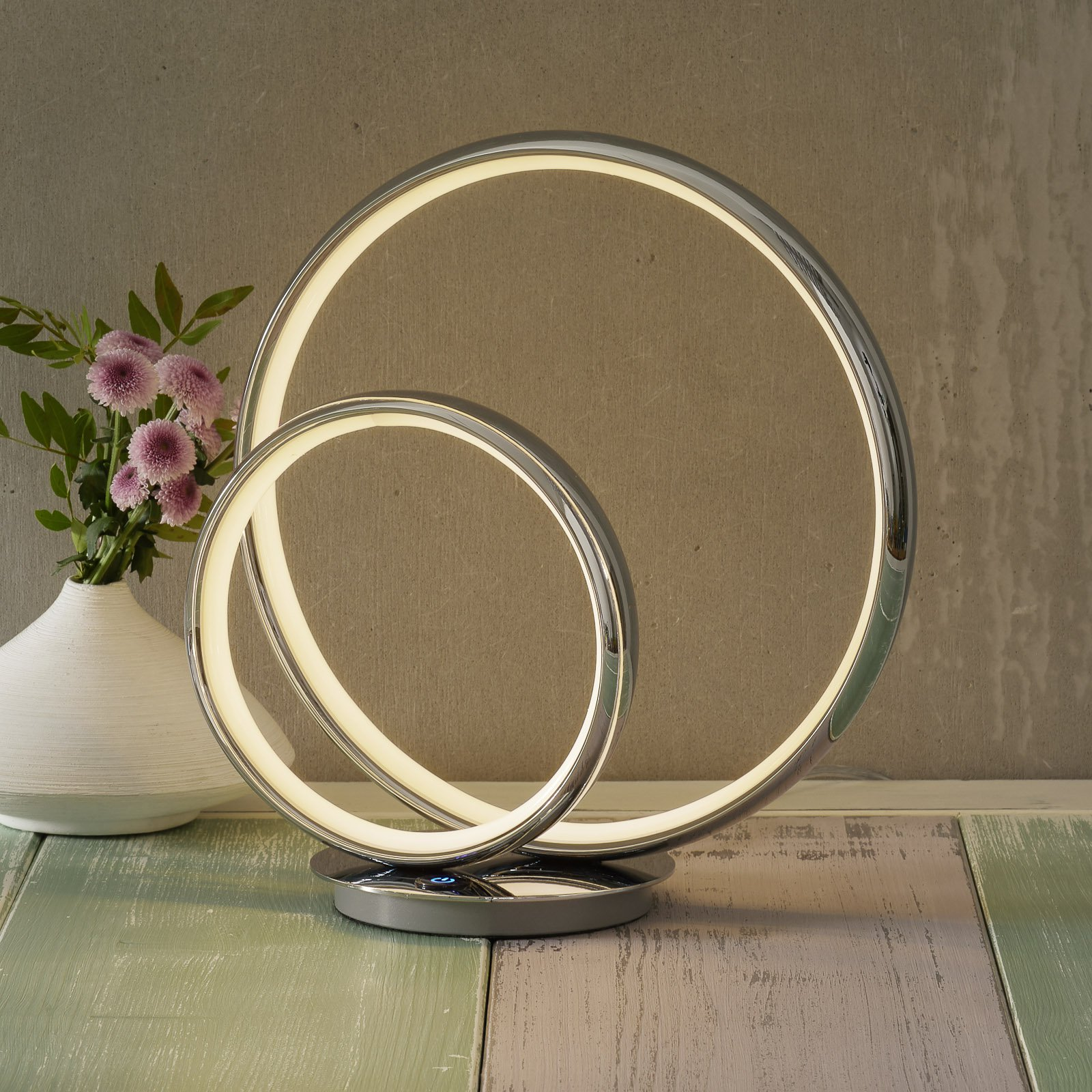 LED-bordlampe Omega med 3-trinns dimmer