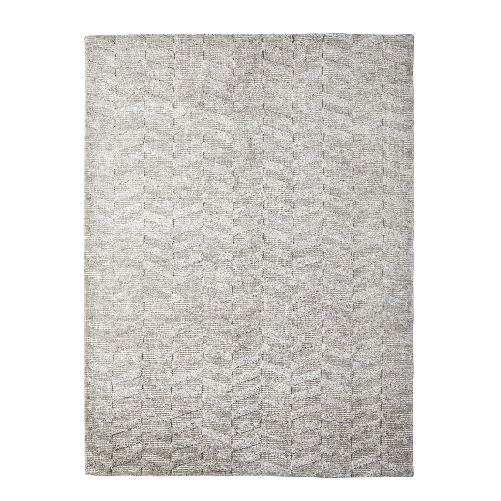 Viskosmatta CHEVRON ALUMINIUM 170x230 cm, Classic Collection