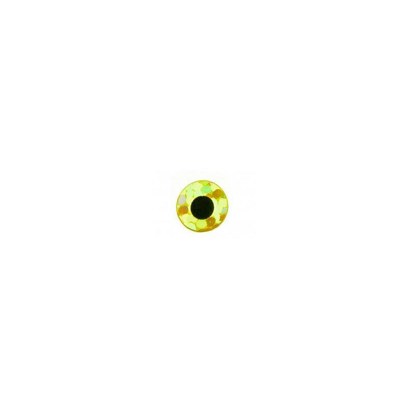 Flat Eyes Holo Gold 6,0 mm