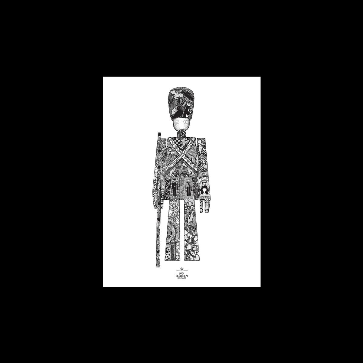 Kay Bojesen Garder Poster 30 x 40 cm - Black/White (39498)