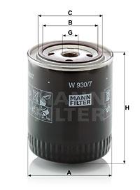 Öljynsuodatin MANN-FILTER W 930/7