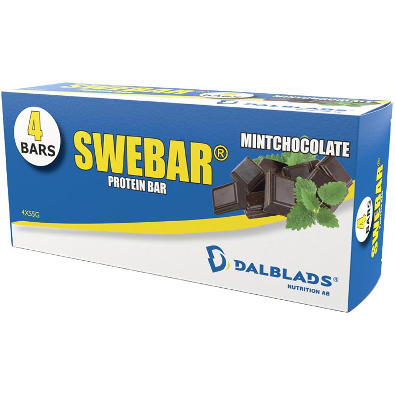 Proteinbar Mintchoklad 4 x 55g - 55% rabatt