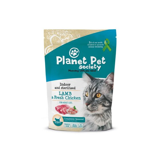 Planet Pet Society Cat Indoor & Sterilized Lamb with Fresh Chicken (1,5 kg)