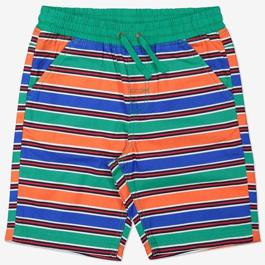 Stripet shorts grønn