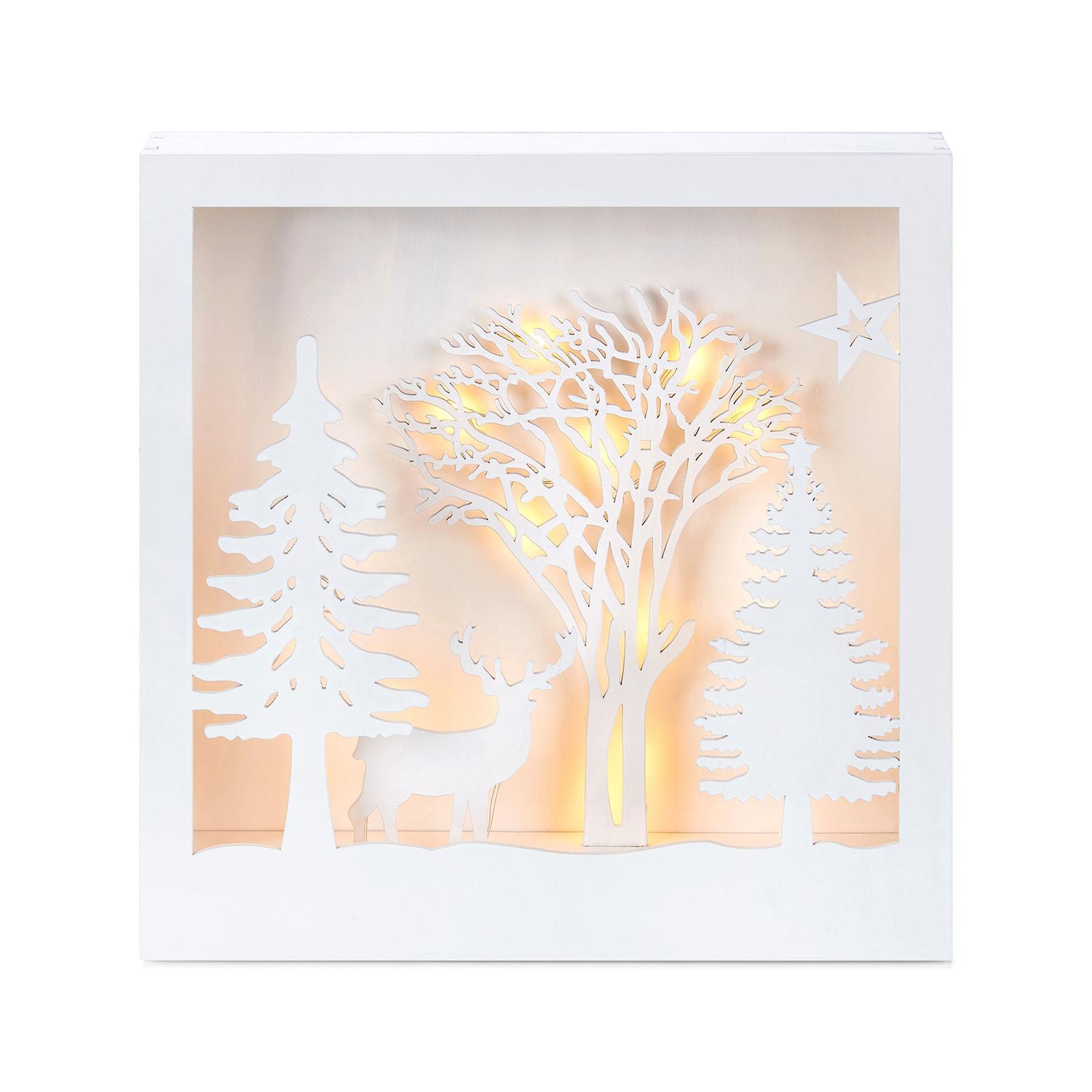 LED-valaistu 3D-taulu Folkabo, puuta
