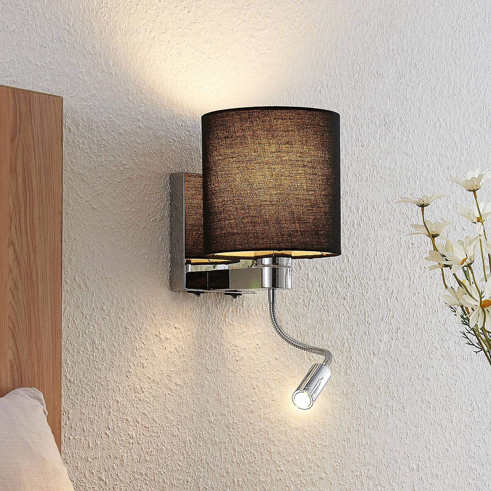 Lucande-seinävalaisin Brinja LED musta