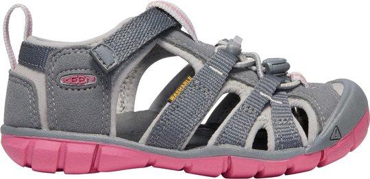 KEEN Seacamp II CNX Sandal, Steel Grey/Rapture Rose, 32/33