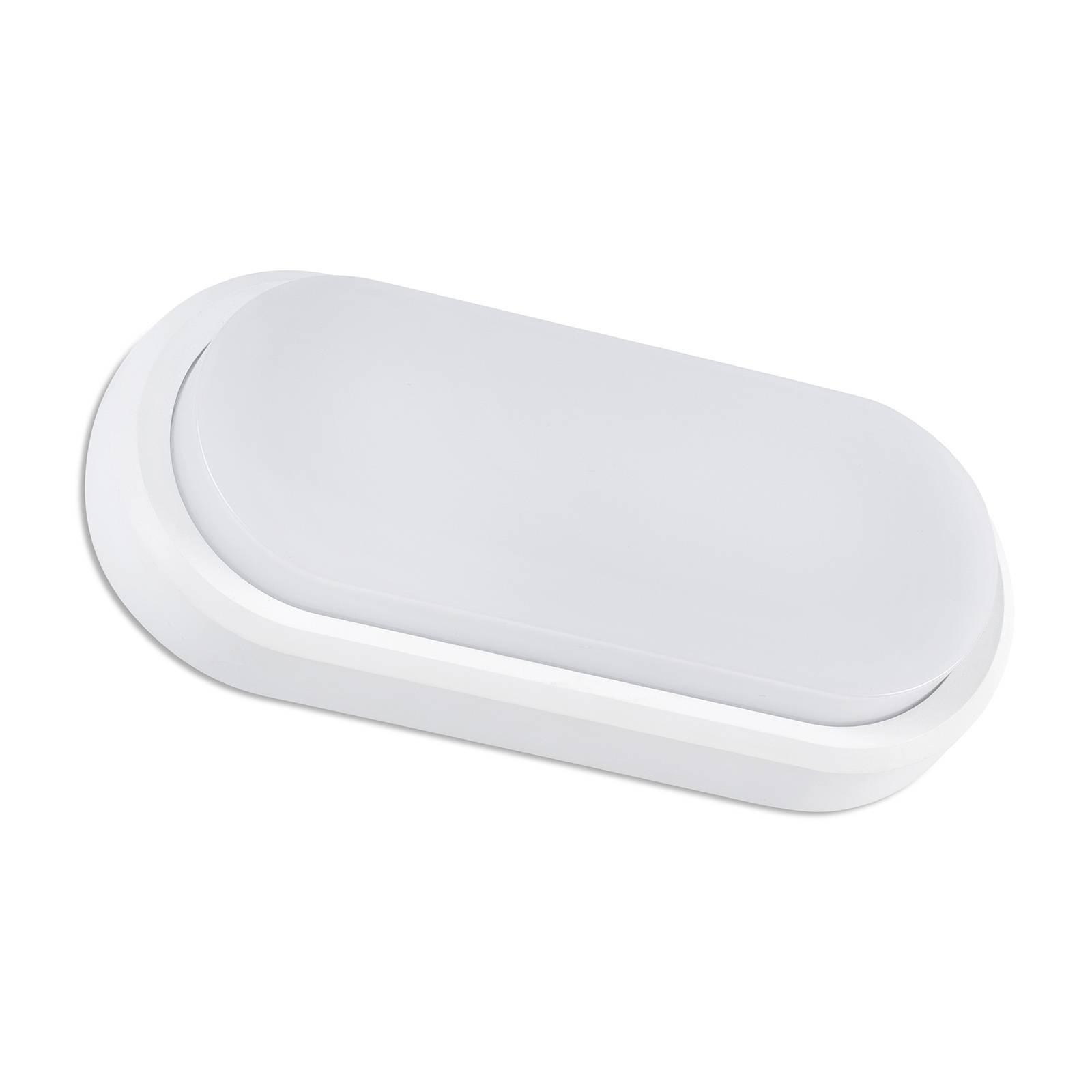 Utendørs LED-vegglampe Fred XL IK10, hvit