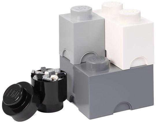 LEGO Oppbevaring 4, White/Grey/Black