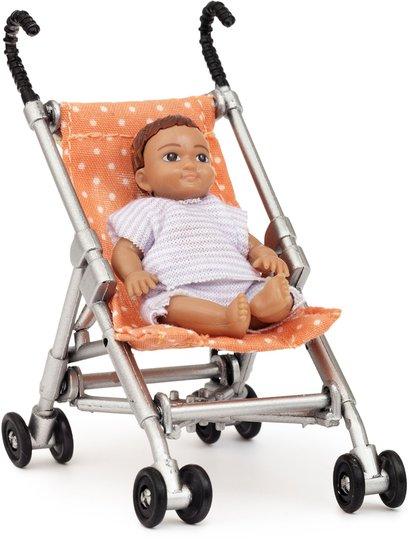 Lundby Dukkehustilbehør Barnevogn og Baby