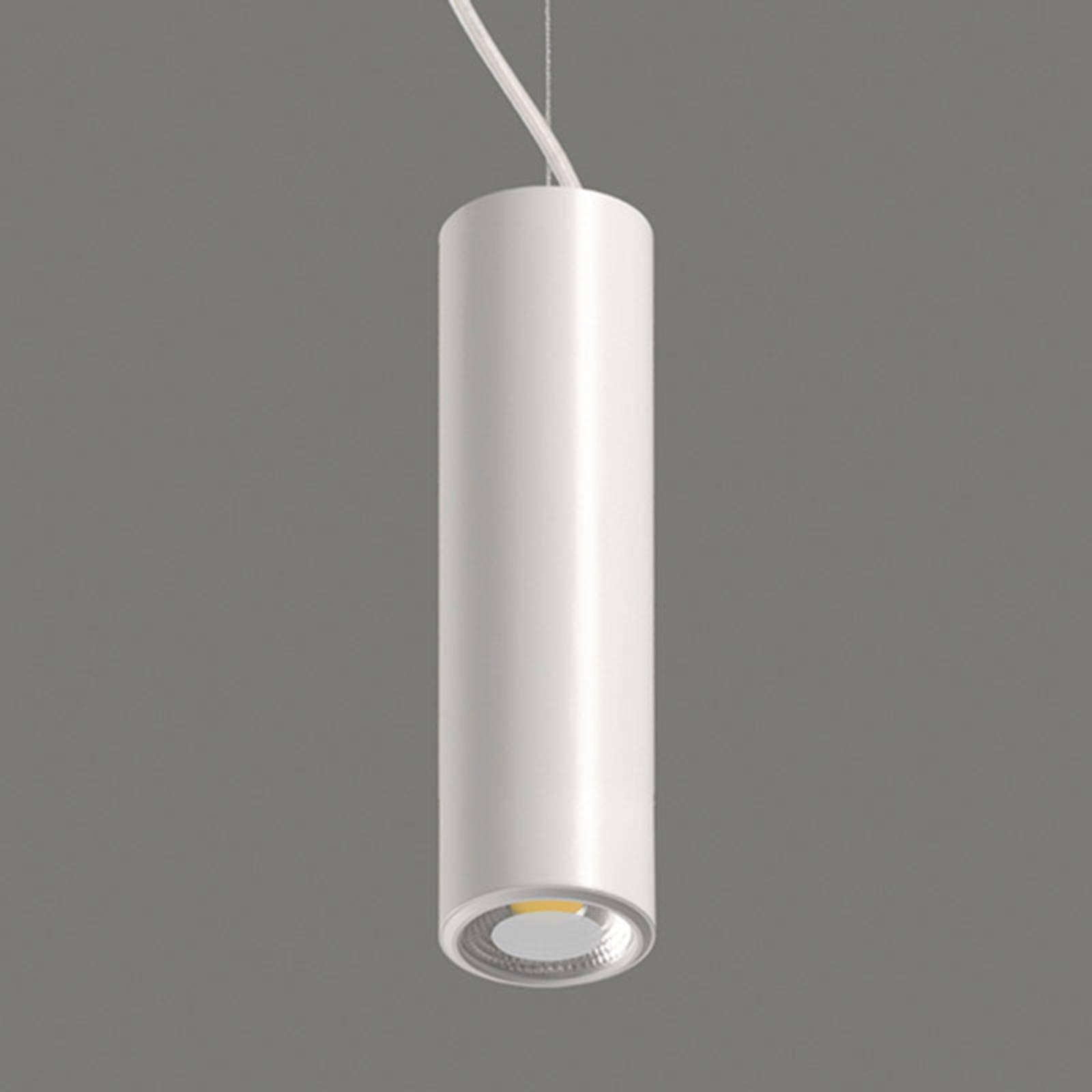 Studio - sylindrisk hvit LED-pendellampe