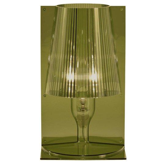 Kartell Take designer-bordlampe, olivengrønn