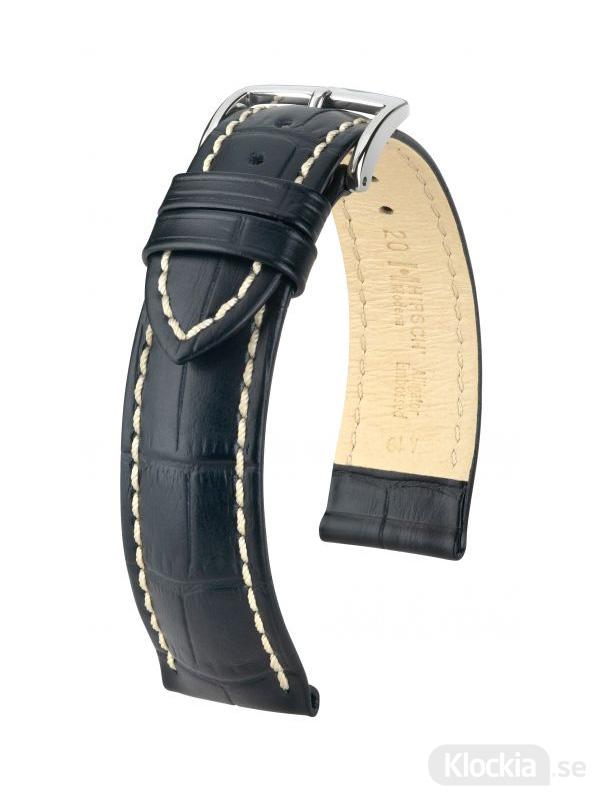 Hirsch Modena 18mm Large Svart/Silver 10302850-2-18