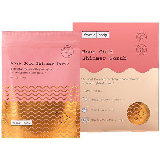 Rose Gold Shimmer Scrub, 220 g Frank Body Vartalokuorinnat