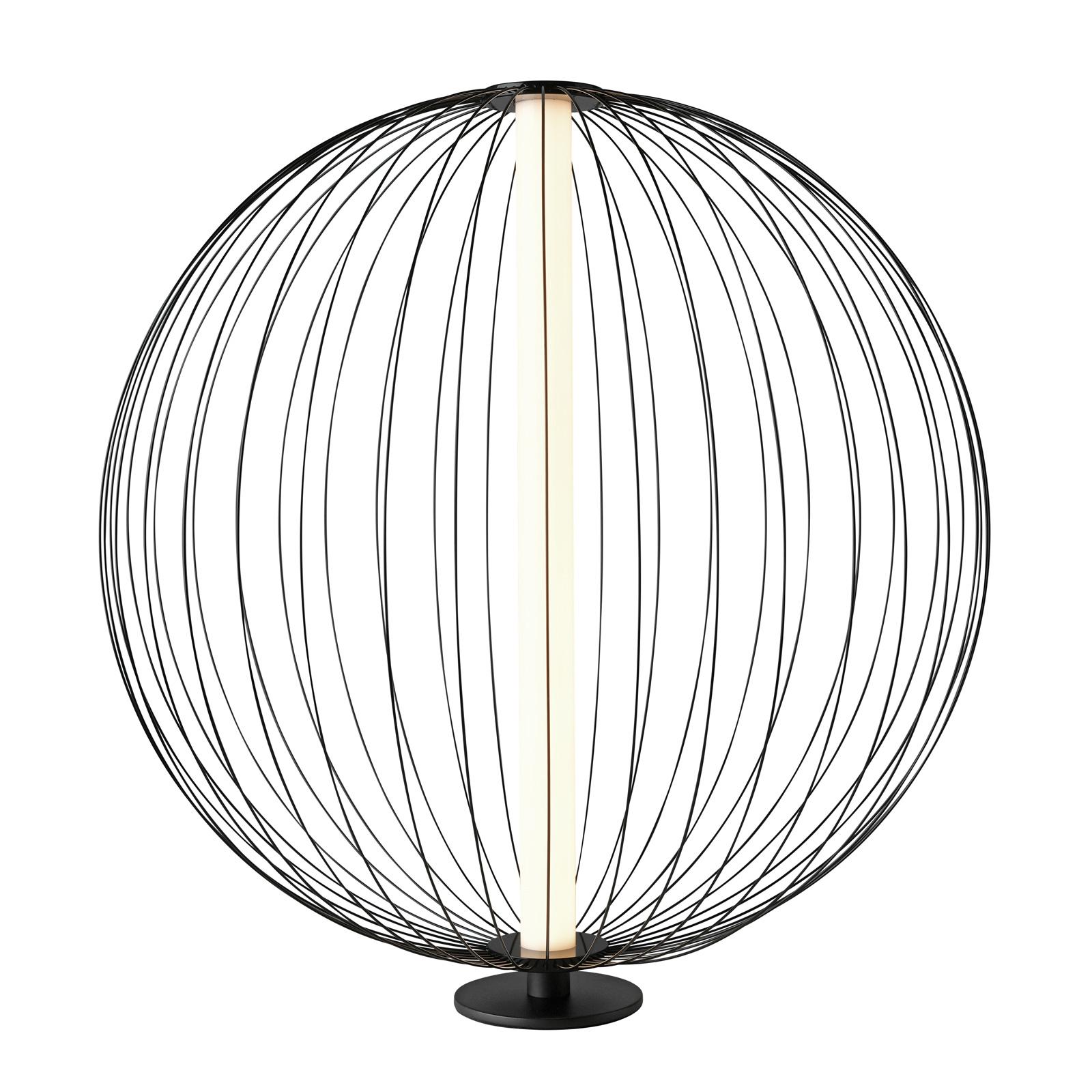 LED-pöytälamppu Atomic, muutettava varjostin