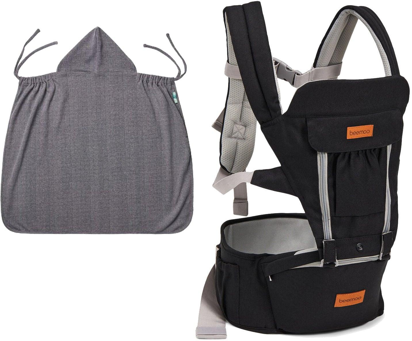 Beemoo Carry Comfort Adjust Bärsele inkl Överdrag, Black