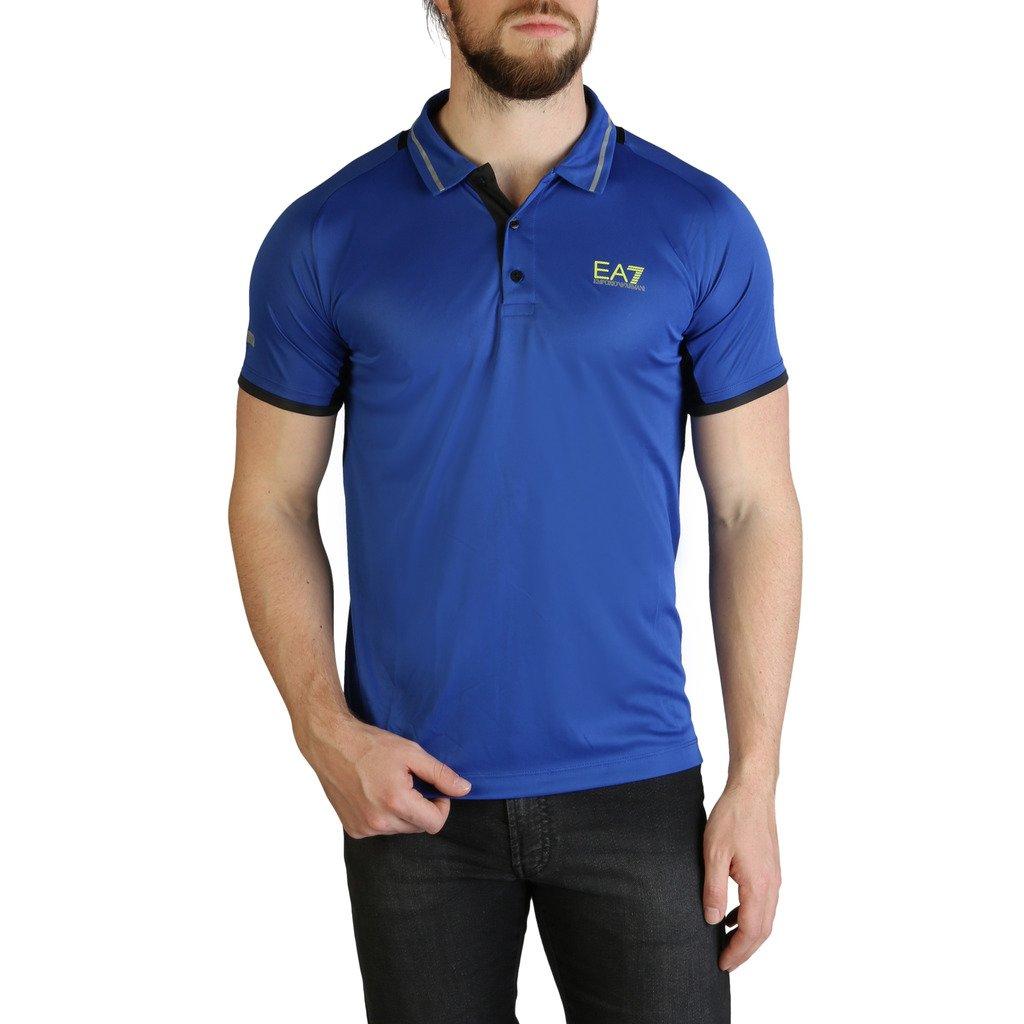 EA7 Men's Polo Shirt Blue 3GPF76_PJV6Z - blue XS
